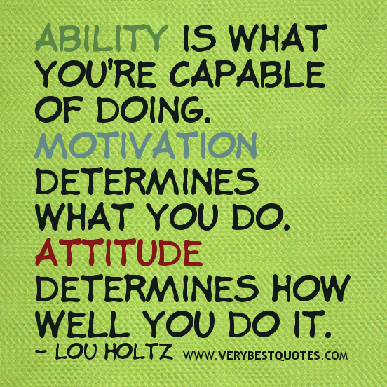 Great Attitude Quote: Quotes About Attitude And Effort. QuotesGram